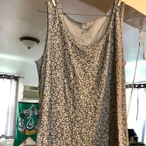Leopard print tank top excellent condition